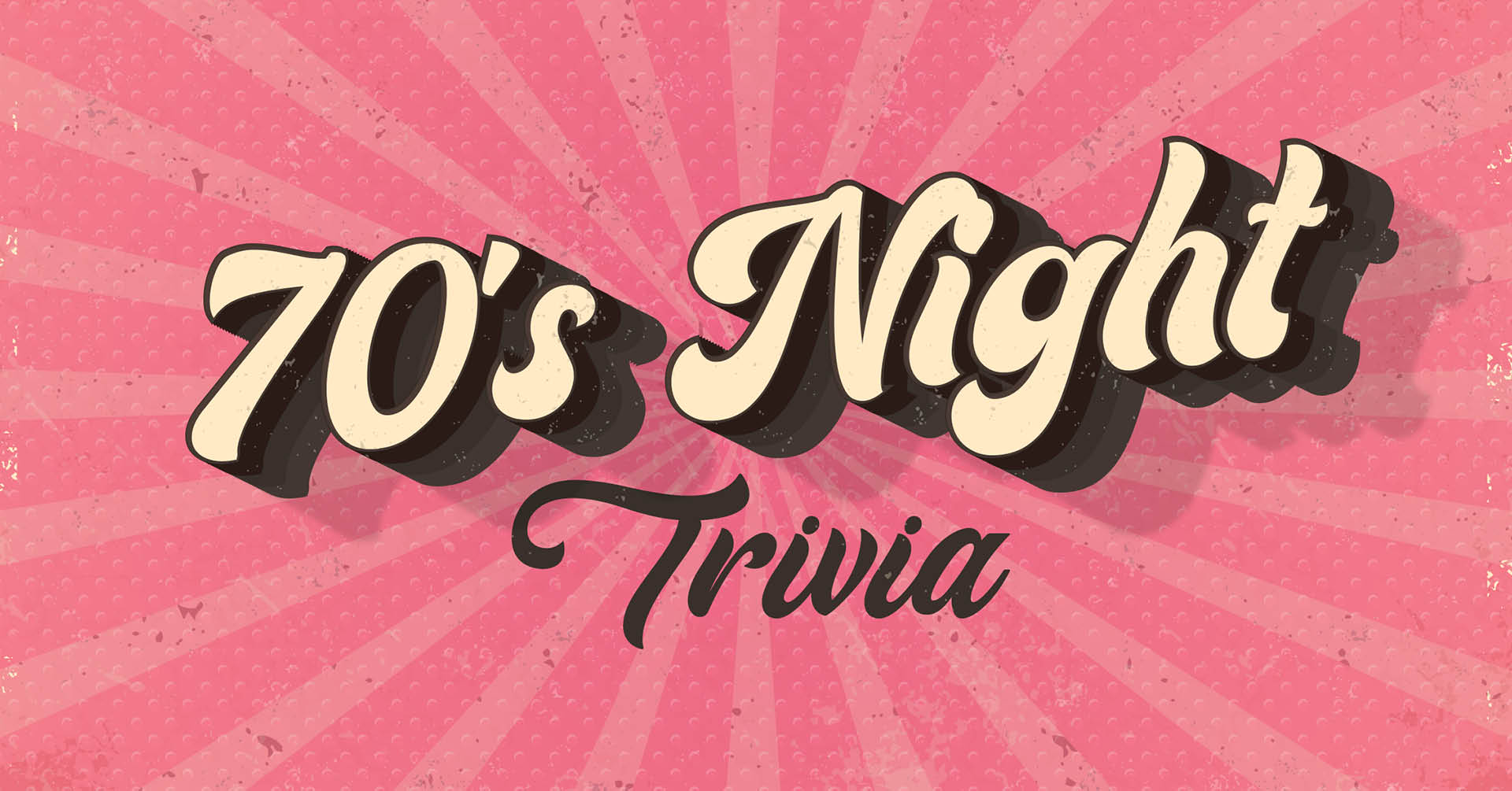 70s night trivia graphic