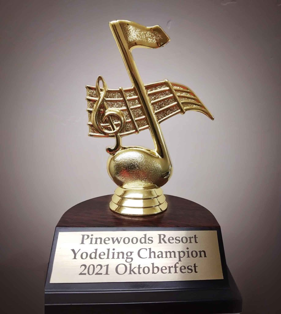 Yodeling Contest Trophy